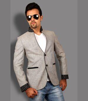 Ultra Modern Casual Jacket Silver Grey Designer Blazers