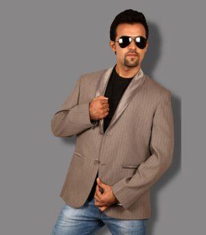 Another Fabulous Satin Shawl Lapel Induced Ultra Modern Dallas Beige Designer Blazers