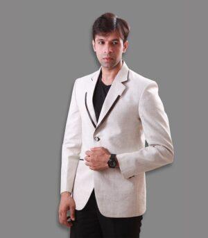 Amazing Looks And Comfy Fitting Alabaster Cream Designer Blazers