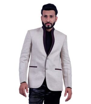 Designed In Natural Linen Created Wheat Designer Blazers