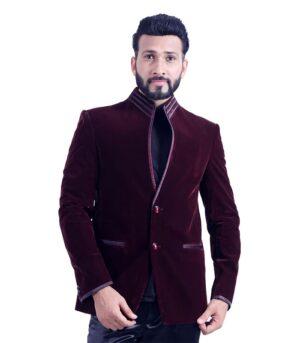 Designer Masterpiece Tailored To Perfection And Finesse Dark Burgundy Designer Blazers